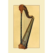 Pedal Harp by Theodore Thomas Painting Print