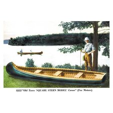 Square Stern Model' Canoe Painting Print