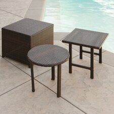 Agamemnon 3 Piece Wicker Side Table Set