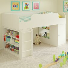 June Twin Panel Bed with Toy Box and Bookcase