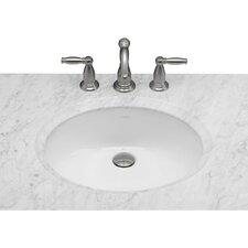 Oval Undermount Bathroom Sink with Overflow