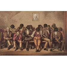 'Mixed Race Jury Listens to the Evidence' Painting Print