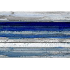 'Beach & Nautical Tarrafal' by Parvez Taj on Wood in Dark Blue
