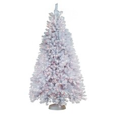 7.5' White Artic Fir Artificial Christmas Tree with 900 Clear Lights