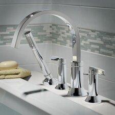 Berwick Double Handle Deck Mount Roman Tub Faucet Lever Handle