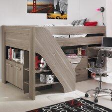 Hochbett Hangun mit Tisch und Treppe, 90 x 200 cm