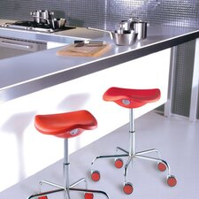 Welcome Stool on Castors with Adjustable Height