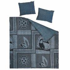 Bettwäsche-Set Indigo Tucan aus Baumwolle