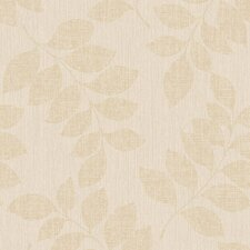 "Modern Classic Satin Luxury Leaf Branches 32.97' x 20.8"" Botanical Wallpaper"