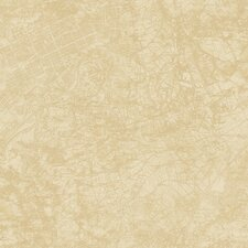 "Vintage Classic Urban City Map 32.97' x 20.8"" Abstract Wallpaper"