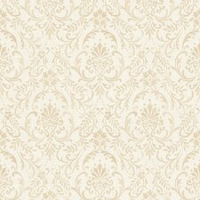 "Traditional Floral Ornamental Antique 32.97' x 20.8"" Damask Wallpaper"
