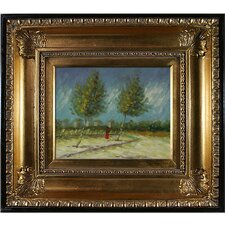 on the Outskirts of Paris by Vincent Van Gogh Framed Painting