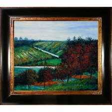 Apple Trees in Bloom at Vetheuil 1887 by Claude Monet Framed Painting