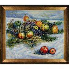 Pears and Grapes by Claude Monet Framed Painting