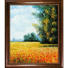Champ Davoine (Oat Field) by Claude Monet Framed Painting