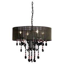 70cm Four Light Chandelier in Black