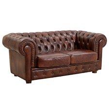 2-Sitzer Sofa Bridgeport aus Leder