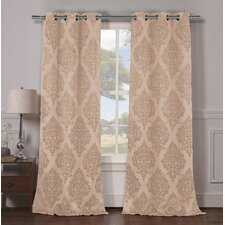 Damask Blackout Grommet Curtain Panels (Set of 2)