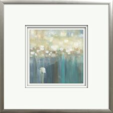 """Aqua Light"" by Karen Lorena Parker Framed Painting Print"
