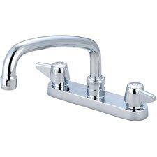 "Double Handle Centerset Kitchen Faucet with 6"" Centers"