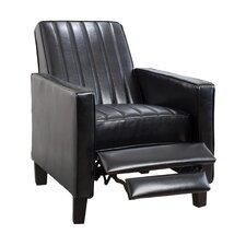 Laurel Black Leather Recliner