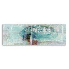 Gerahmtes Leinwandbild Panorama Abstrakt 1499 Enigma, Grafikdruck
