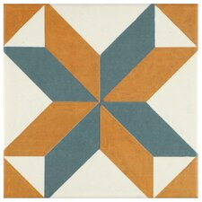 """Revive 7.75"""" x 7.75"""" Ceramic Floor and Wall Tile in Pattern"""
