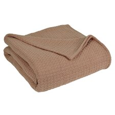 Grand Hotel All Natural Basket Woven 100% Cotton Blanket