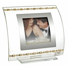 Italian Curved with Gold Links and Swarovski Crystals Picture Frame