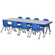 "9 Piece Rectangular Activity Table & 10"" Chair Set"