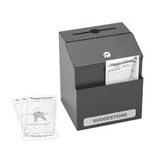 Steel Suggestion Box in Black