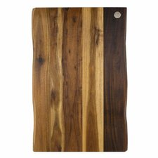 "Wood Acacia Raw Edge 17"" x 11"" Gripper Cutting Board"