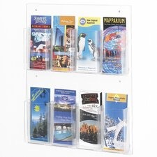 Clear2c Wall Mounted Brochure Rack