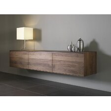 """Wood Panel TV Stand for TVs up to 61"""""""