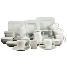 Victoria White 50 Piece Dinnerware Set , Service for 6