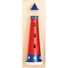 Metal Patriotic Light House