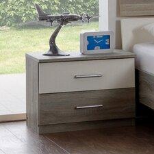 Nachttisch Alina mit 2 Schubladen