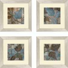 Botanical Perfect Match 4 Piece Framed Painting Print Set (Set of 4)