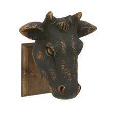 Superior Artistically Crafted Wood Cow Head Wall Décor