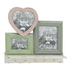 3 piece wood hook picture frame set