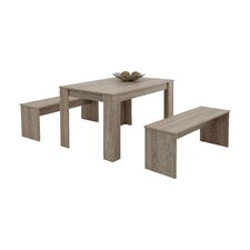 Doris Dining Set with 2 Benches