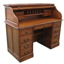 Mylan Roll Secretary Desk with Hutch