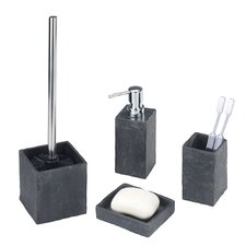 Slate Rock 4-Piece Bathroom Accessory Set