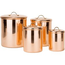 Old Dutch 4 Piece Kitchen Canister Set