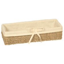 Long Lined Thin Seagrass Basket