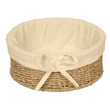 Round Lined Seagrass Basket