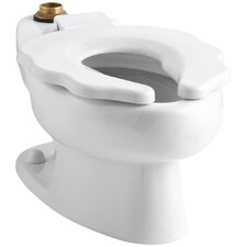 """Primary 1.6 GPF Flushometer Valve 10-3/4"""" Elongated Toilet Bowl with Seat"""