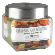 Glass Square Kitchen Canister