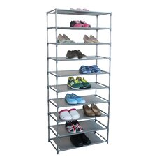 30-Pair Non Woven 10-Tier Shoe Rack