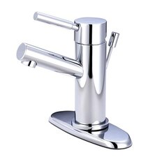 South Beach Single Handle Mono Block Centerset Bathroom Faucet with Pop-Up Drain and Plate